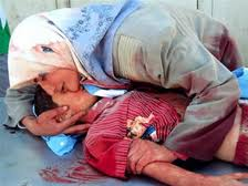 gaza,mother and dead son
