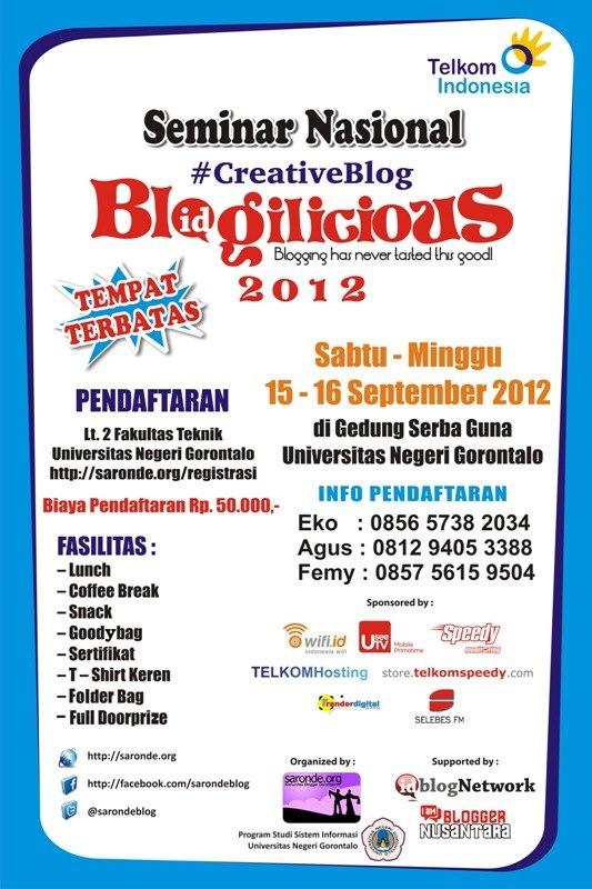 MENYONGSONG BLOGILICIOUS GORONTALO, 15-16 SEPTEMBER 2012