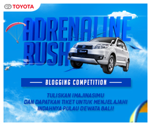 MENANTANG KEBERANIAN LEWAT ADRENALINE RUSH BLOGGING COMPETITION