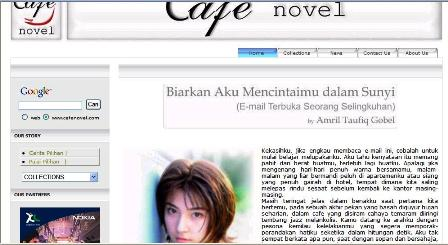CERPEN SAYA DI CAFE NOVEL