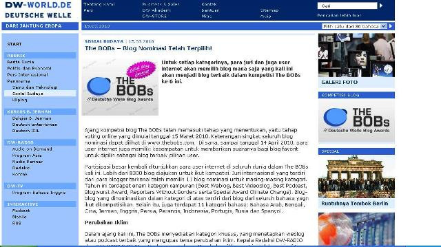 BLOG DAENGBATTALA TERPILIH JADI NOMINASI BLOG TERBAIK KATEGORI BAHASA INDONESIA DI AJANG THE BOBS