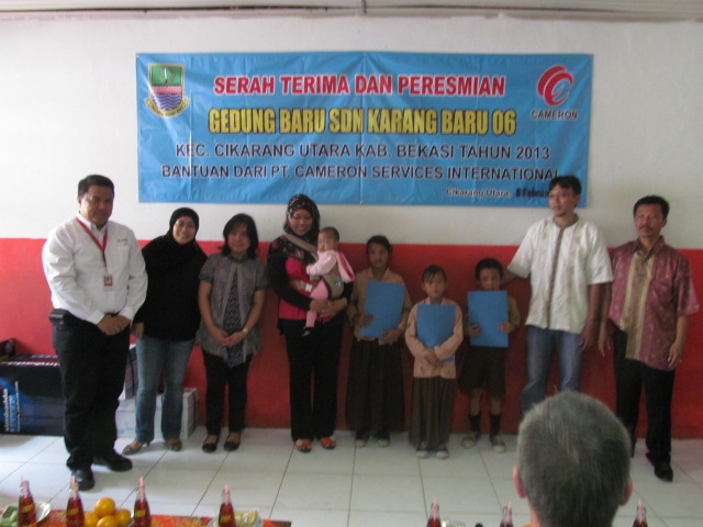 PERESMIAN GEDUNG KELAS BARU PROGRAM CSR PT.CAMERON SERVICES INTERNATIONAL DI SD KARANGBARU 06