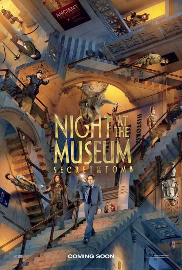 "FILM ""NIGHT AT THE MUSEUM-SECRET OF THE TOMB"" : MENYINGKAP MISTERI TABLET EMAS"